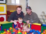 Playing at the indoor playground with cousin Jacob and little Caden