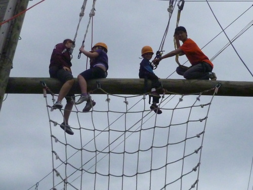 "The kids had to surrender their fear in order to conquer ""Goliath"" the zipline!"