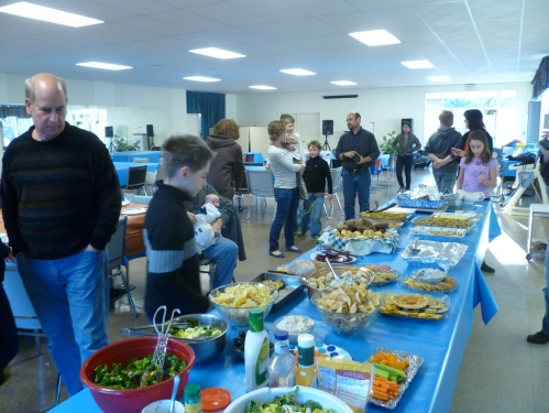 We all brought things for Thanksgiving dinner...and all took home LOTS of leftovers!