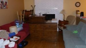 Furniture is migrating towards the door...