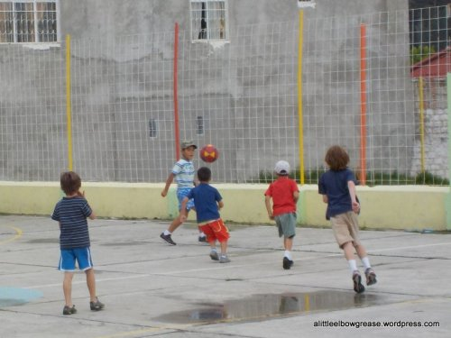 The boys at the cancha...best mama feeling is when the neighbourhood kids come to call on ours!